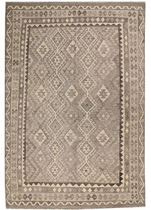 Light Grey Kilim 6' 7 x 9' 8 - No. 62989