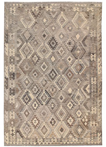 Light Grey Kilim 6' 9 x 9' 6 - No. 62990