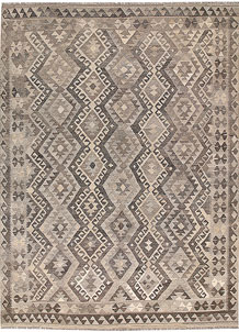 Light Grey Kilim 6' 8 x 9' 5 - No. 62991
