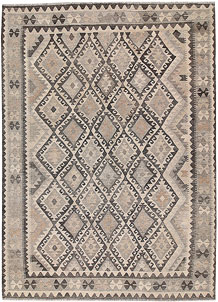 Light Grey Kilim 6' 9 x 9' 6 - No. 62993