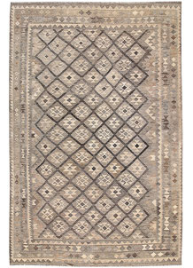 Light Grey Kilim 6' 7 x 10' - No. 62994