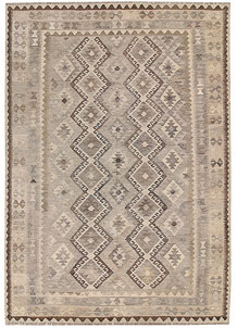 Light Grey Kilim 6' 8 x 9' 7 - No. 62996