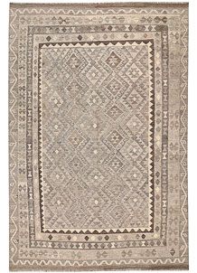 Light Grey Kilim 6' 7 x 9' 9 - No. 62997