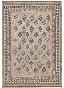 Light Grey Kilim 6' 8 x 9' 8 - No. 63000