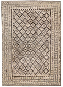 Light Grey Kilim 6' 10 x 9' 11 - No. 63001