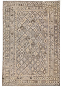 Light Grey Kilim 6' 7 x 9' 10 - No. 63002