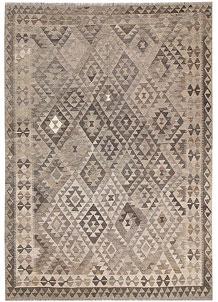 Light Grey Kilim 6' 6 x 9' 2 - No. 63004
