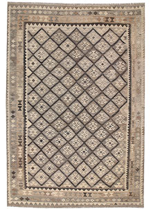 Light Grey Kilim 6' 6 x 9' 8 - No. 63005