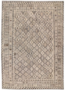 Light Grey Kilim 6' 9 x 9' 9 - No. 63006