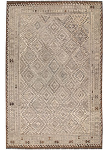 Light Grey Kilim 6' 6 x 9' 11 - No. 63007