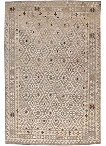 Light Grey Kilim 6' 7 x 9' 10 - No. 63008