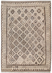 Light Grey Kilim 6' 9 x 9' 6 - No. 63009