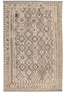 Light Grey Kilim 6' 7 x 9' 10 - No. 63012