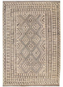 Light Grey Kilim 6' 9 x 9' 11 - No. 63013