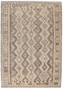 Light Grey Kilim 6' 11 x 9' 7 - No. 63014