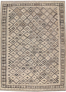 Light Grey Kilim 7' x 9' 6 - No. 63016