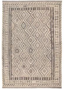 Light Grey Kilim 6' 8 x 9' 8 - No. 63019