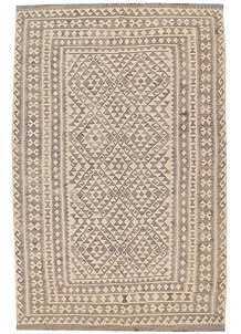 Light Grey Kilim 6' 7 x 10' - No. 63020