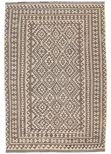 Light Grey Kilim 6' 8 x 9' 9 - No. 63021