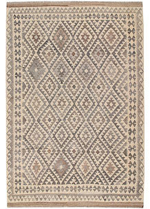 Light Grey Kilim 6' 8 x 9' 9 - No. 63023