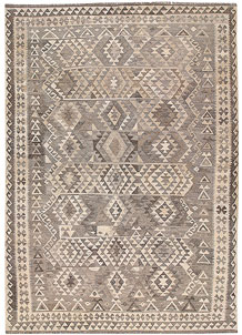 Light Grey Kilim 6' 10 x 9' 11 - No. 63028