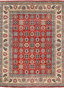 Firebrick Kazak 8' 10 x 11' 7 - No. 63055