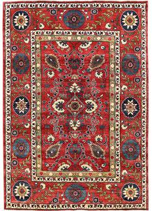 Firebrick Kazak 6' 7 x 9' 5 - No. 63089