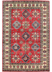Firebrick Kazak 6' 7 x 9' 8 - No. 63090