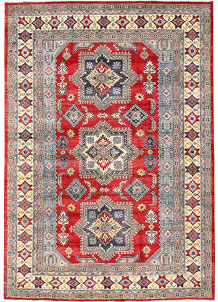 Firebrick Kazak 6' 7 x 9' 5 - No. 63091