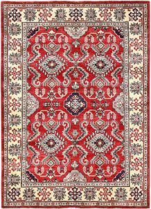 Firebrick Kazak 4' 11 x 6' 11 - No. 63098