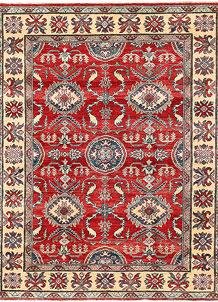 Firebrick Kazak 4' 11 x 6' 4 - No. 63104