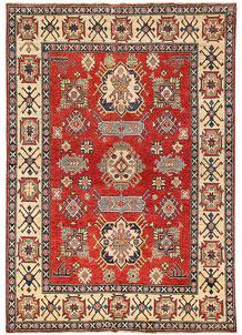 Firebrick Kazak 5' 3 x 7' 5 - No. 63108