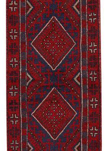 Firebrick Mashwani 2' x 8' 9 - No. 63153