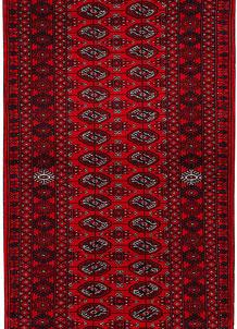 Dark Red Bokhara 2' 7 x 6' 1 - No. 63299