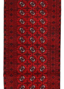 Dark Red Bokhara 2' 6 x 10' 9 - No. 63305