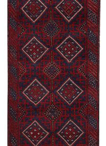 Dark Blue Mashwani 2' 3 x 11' 6 - No. 63315
