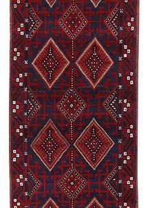 Dark Blue Mashwani 2' 6 x 11' - No. 63324