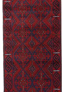 Dark Blue Mashwani 2' 4 x 11' 9 - No. 63474