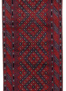 Dark Blue Mashwani 2' 3 x 11' 10 - No. 63476