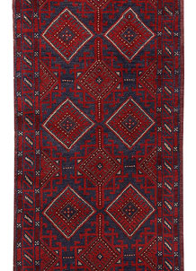 Dark Blue Mashwani 2' 4 x 11' 8 - No. 63477
