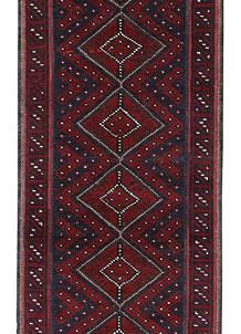 Dark Blue Mashwani 2' x 7' 8 - No. 63641