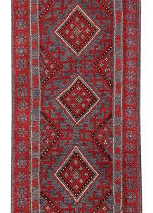Dark Red Mashwani 2' 1 x 8' 1 - No. 63649