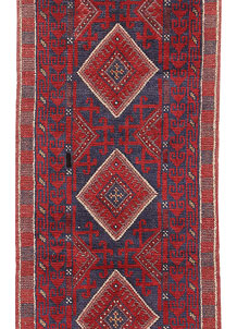 Dark Red Mashwani 2' 2 x 8' - No. 63652