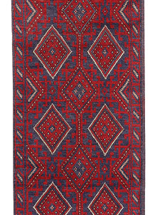 Dark Red Mashwani 2' 1 x 8' 5 - No. 63682