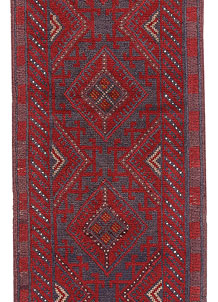 Dark Red Mashwani 2' 1 x 8' - No. 63687