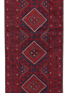 Dark Red Mashwani 2' 2 x 8' - No. 63692