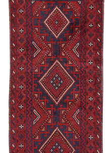 Dark Red Mashwani 2' 2 x 8' 2 - No. 63693