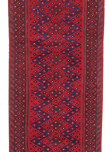 Dark Red Mashwani 1' 11 x 8' 2 - No. 63706