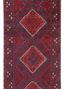 Dark Red Mashwani 2' 2 x 8' - No. 63709