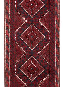 Dark Red Mashwani 2' 1 x 7' 11 - No. 63716